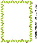 colorful christmas border  ... | Shutterstock .eps vector #253675252