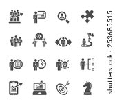 business and strategy icon set... | Shutterstock .eps vector #253685515
