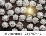new idea concept with crumpled... | Shutterstock . vector #253707442