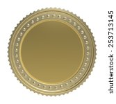 gold coin isolated on white... | Shutterstock . vector #253713145