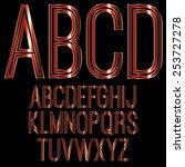 decorative font   metallic red | Shutterstock .eps vector #253727278