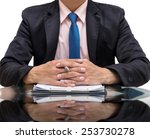 businessman calculating the... | Shutterstock . vector #253730278
