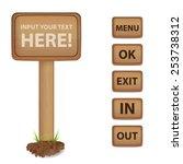wood signs   Shutterstock .eps vector #253738312