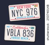 License Plates Typography  Car...