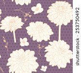 romantic lavender violet... | Shutterstock .eps vector #253750492