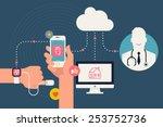 vector modern creative... | Shutterstock .eps vector #253752736