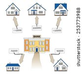 vector illustration  mortgage... | Shutterstock .eps vector #253773988