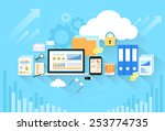 computer device data cloud... | Shutterstock .eps vector #253774735
