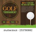 an illustration for a golf...   Shutterstock .eps vector #253780882