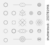 set of geometric shapes ... | Shutterstock .eps vector #253781446