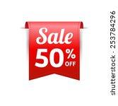 sale 50  off label | Shutterstock .eps vector #253784296