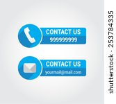 contact us phone   mail labels | Shutterstock .eps vector #253784335