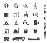 oil and petrol icon set | Shutterstock .eps vector #253784572