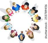 diversity innocence children...   Shutterstock . vector #253789456