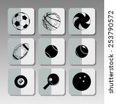 black sport icons   Shutterstock .eps vector #253790572