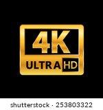 4k ultra hd sign | Shutterstock .eps vector #253803322