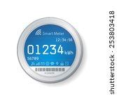 smart meter illustration   Shutterstock .eps vector #253803418