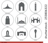 asian capitals   icon set  part ...   Shutterstock .eps vector #253806322