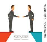 business disagreement... | Shutterstock .eps vector #253818526