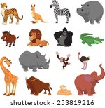 funny animals | Shutterstock .eps vector #253819216