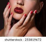 close up image of creative make ... | Shutterstock . vector #253819672