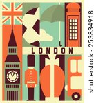 vector london background | Shutterstock .eps vector #253834918