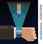 smart watch illustration.... | Shutterstock .eps vector #253837846