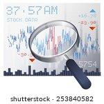 stock market data   illustration