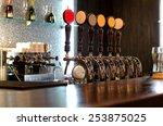 Beer Taps Behind A Deserted Bar ...