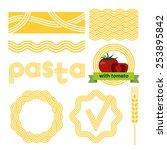 pasta package labels design set....   Shutterstock .eps vector #253895842