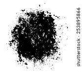 black abstract grunge splash... | Shutterstock .eps vector #253895866
