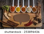 assortment of spices in the... | Shutterstock . vector #253896436
