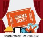 cinema concept design  vector...   Shutterstock .eps vector #253908712