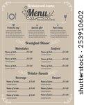 restaurant menu design vector... | Shutterstock .eps vector #253910602