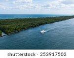 John U. Lloyd Beach State Park and the Stranahan River, Port Everglades, Fort Lauderdale, Florida - stock photo