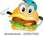 mascot illustration of a... | Shutterstock .eps vector #253917532