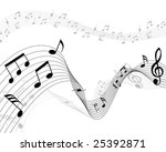 musical note stuff  vector... | Shutterstock .eps vector #25392871