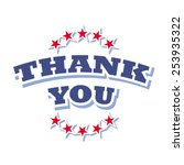 vector thank you logo on white... | Shutterstock .eps vector #253935322