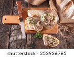 bread with meat spread | Shutterstock . vector #253936765