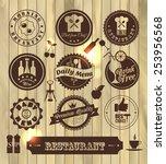 kitchen label set | Shutterstock .eps vector #253956568