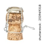 cork from champagne bottle ... | Shutterstock . vector #253969318