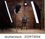 lighting set up in photostudio...   Shutterstock . vector #253973056