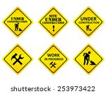 yellow on black graphics signs... | Shutterstock .eps vector #253973422