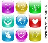 heart shape set. vector set... | Shutterstock .eps vector #253981642