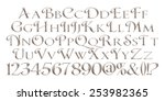 alphabets in silver on isolated ...   Shutterstock . vector #253982365