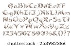 alphabets in silver on isolated ... | Shutterstock . vector #253982386