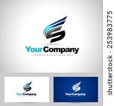 creative letter s logo design.... | Shutterstock .eps vector #253983775