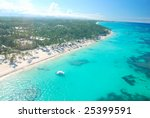 beautiful caribbean beach in... | Shutterstock . vector #25399591