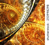 Bright Golden Spiral. Abstract...