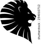 Lion Head Shillouet Tattoo